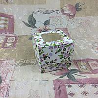Коробка для 1-ого кекса / 100х100х90 мм / печать-Весна / окно-обычн / лк / цв, фото 1