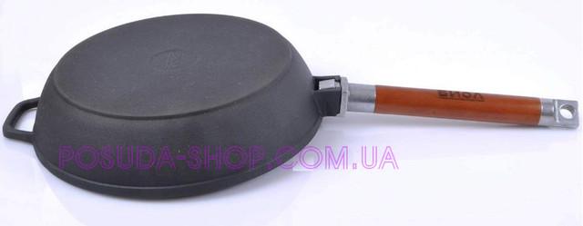 Сковорода чугунная Биол Классик 28 см со съемной ручкой