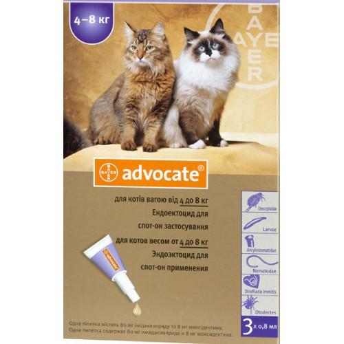 Капли Адвокат® (для котов и кошек от 4 до 8 кг)