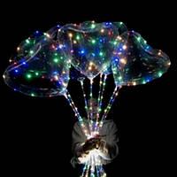 Шар-Сердце светящееся с Led гирляндой на палочке (мульти немигающая 3 батарейки), фото 1