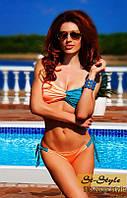 Женский двухцветный раздельный купальник