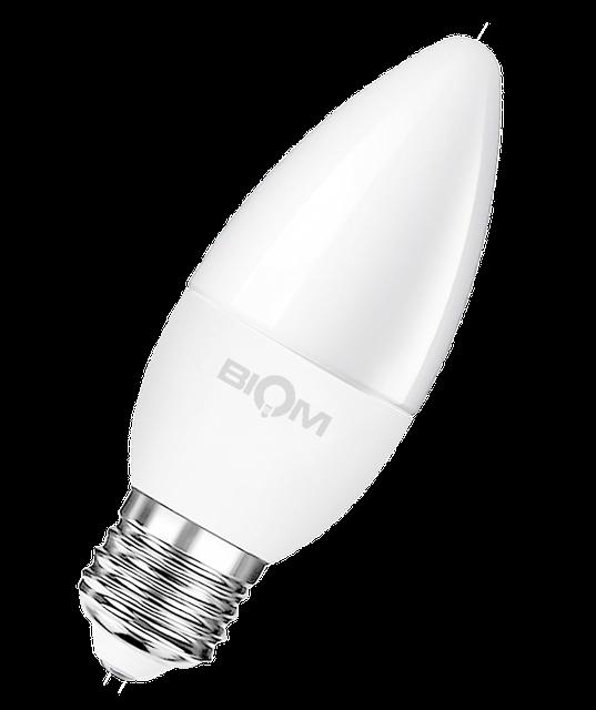 Светодиодная лампа С37 4W E27 4500K яркий свет ВТ-548