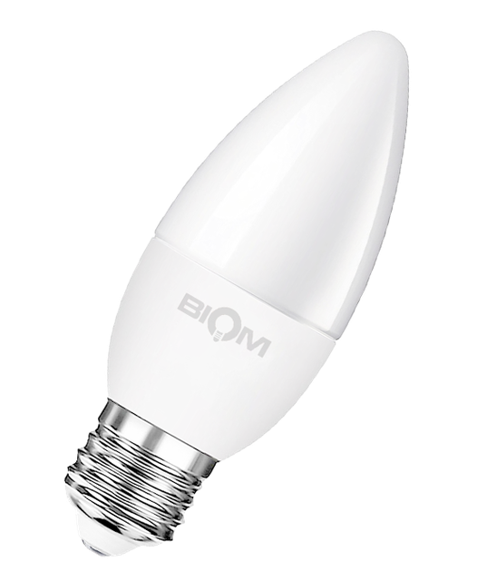 Светодиодная лампа С37 4W E27 3000K теплый свет ВТ-547