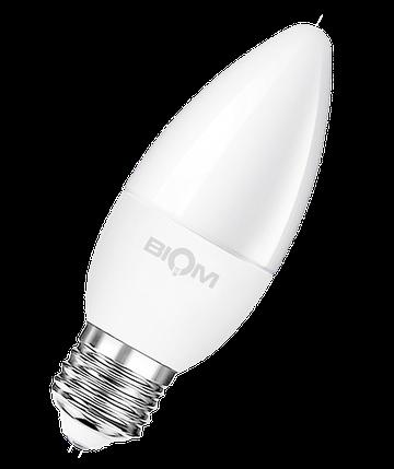 Светодиодная лампа С37 4W E27 3000K теплый свет ВТ-547, фото 2