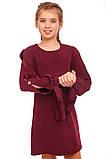 Стильное платье свободного кроя с яркими акцентами 140-152р, фото 3