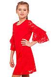 Яркое Нарядное платье  из кружевного гипюра 140-152р, фото 3