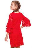 Яркое Нарядное платье  из кружевного гипюра 140-152р, фото 5