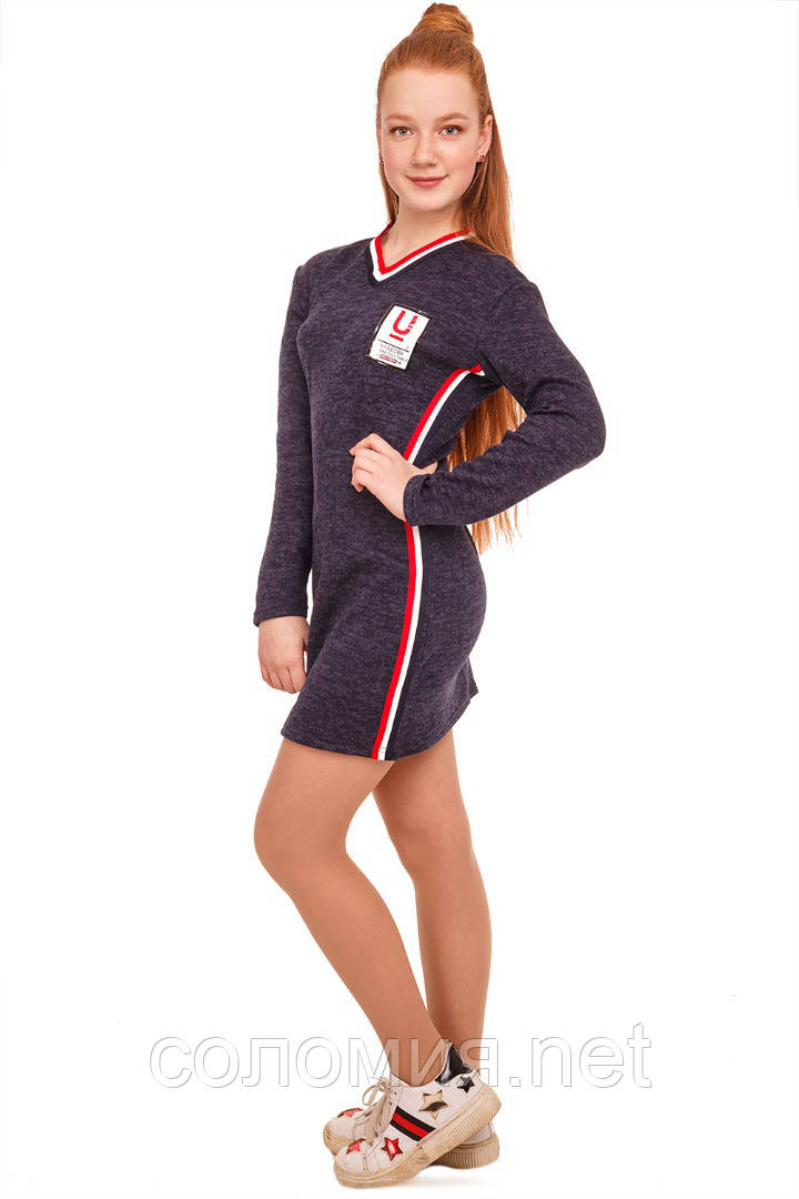 Модное платье в сплртивном стиле  для девочки 134-152р