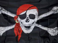 Пиратский Флаг знамя 150х90 см