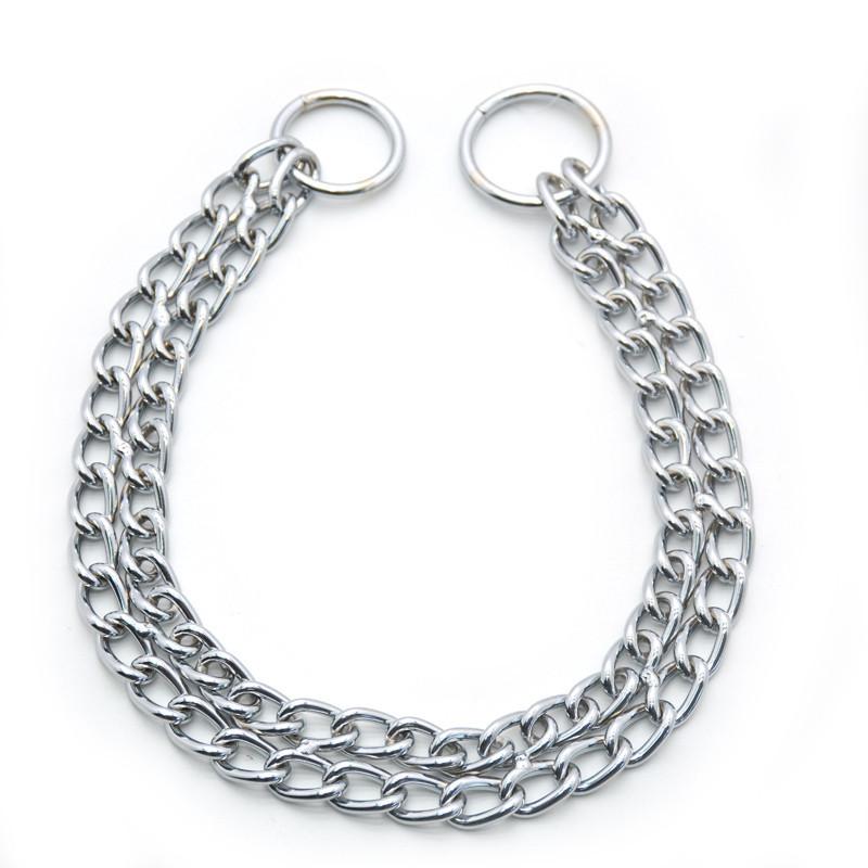 Ошейник цепочка ринговка для собак металический РУ 2