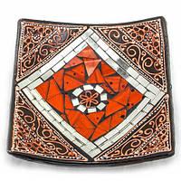 Блюдо терракотовое с мозаикой (15х15х3 см)A ( 30271A)
