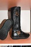 Чобітки шкіряні зимові на дівчинку Шалунішка, фото 3