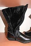 Чобітки шкіряні зимові на дівчинку Шалунішка, фото 5