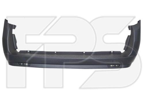 Задний бампер Fiat Doblo 10- без отверстий под парктроник (FPS)
