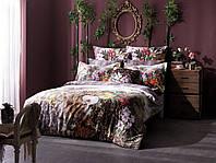 ТАС Digital евро комплект постельного белья сатин Exotic  Paradise gri