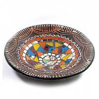 Блюдо терракотовое с мозаикой (d- 20 h-4 см). ( 29385)