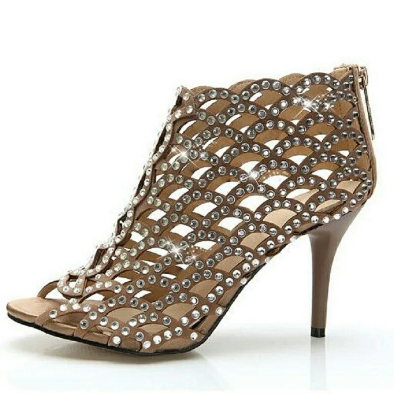 Жіночі туфлі босоніжки swarovski