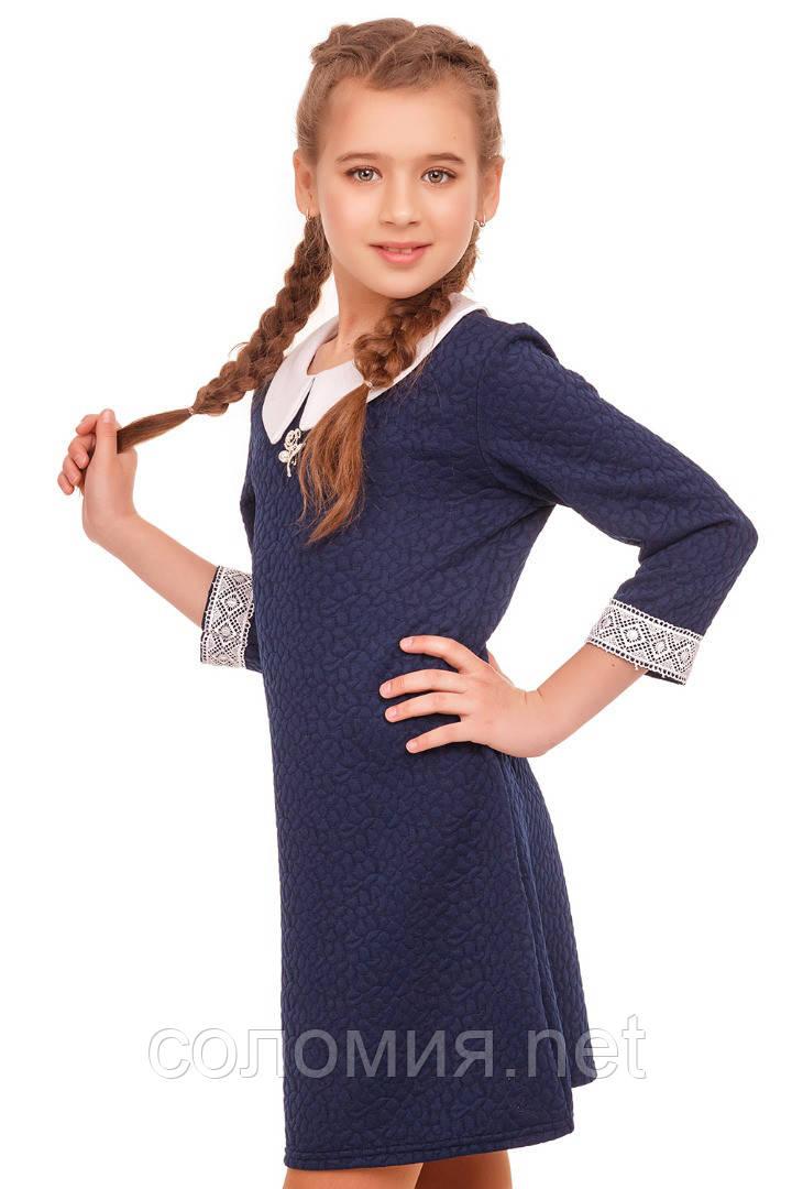 Стильное классическое платье  для девочки 140-152р