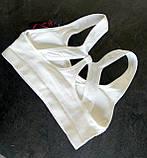 Женский спортивный топ с чашками для йоги, цвет белый, фото 2