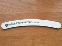 "Пилка ""Salon professional""-белая, бумеранг, 100/100 грид"