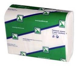 """Рушник паперовий Z-типу, """"Lysoform"""", 2 кулю., 200 листів, білий"""