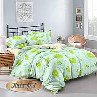 Двуспальный комплект постельного белья евро 200*220 сатин (9730) TM КРИСПОЛ Украина