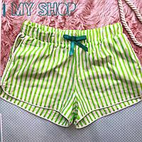 Женские хлопковые домашние шорты с карманами в цветные сердца, фото 1