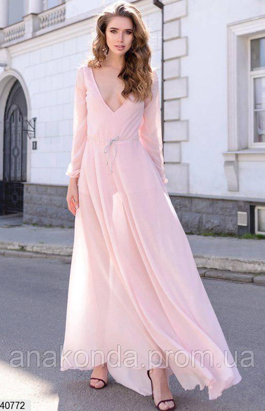 e7840ba3c89 Легкое платье в пол - Интернет - магазин
