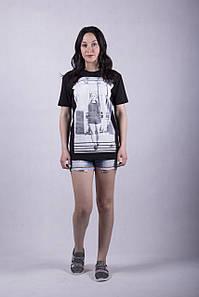 Трикотажная женская футболка р. 44-52