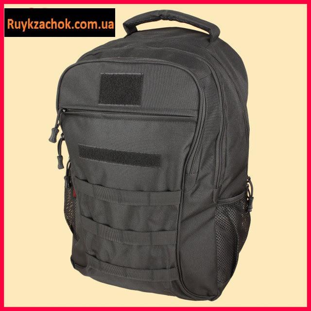Рюкзак тактический, военный черный 40л армейский походной