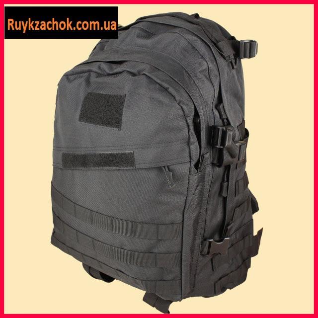 Рюкзак тактический, военный черный 50л армейский походной