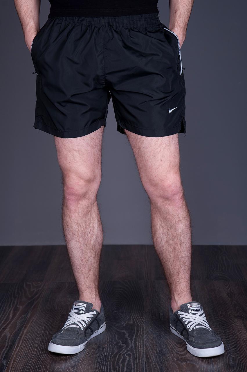 Чоловічі шорти NIKE (плащівка), чорного кольору