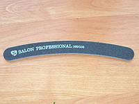 """Пилка """"Salon professional""""- черная, бумеранг, 100/100 грид"""