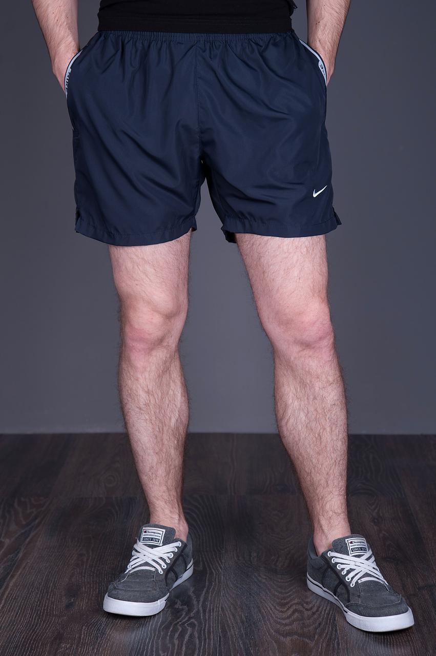 Чоловічі шорти NIKE (плащівка), темно-синього кольору