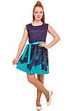 Прелестное платье с ярким цветочным принтом  на юбке 146-152р, фото 3