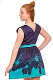 Прелестное платье с ярким цветочным принтом  на юбке 146-152р, фото 5