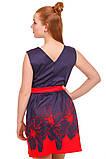 Очаровательное платье с ярким цветочным принтом  на юбке 146-152р, фото 3