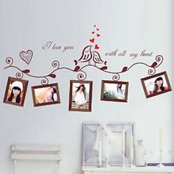 Фоторамка 3 D виниловая наклейка под фотографии Loving Bird Love