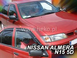 Дефлекторы окон (ветровики)  NISSAN ALMERA - N-15 1995r.-2000r(HEKO)