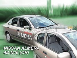 Дефлекторы окон (ветровики)  NISSAN ALMERA - N-16 4d 2000r-> SED(HEKO)