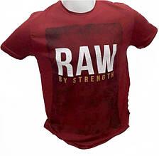 Мужская футболка Raw красная