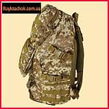 Рюкзак тактический, военный камуфляжный пиксель 50л армейский походной, фото 3