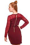 Нарядное платье из ткани двух видов для девочки 134-152р, фото 5