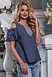Красивая женская Блуза-туника 2624 темно-синий, фото 4