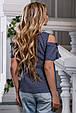 Красивая женская Блуза-туника 2624 темно-синий, фото 5