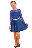 Платье с юбкой солнце-клеш и длинными рукавами для девочки 134-152р, фото 3