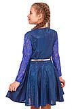 Платье с юбкой солнце-клеш и длинными рукавами для девочки 134-152р, фото 4