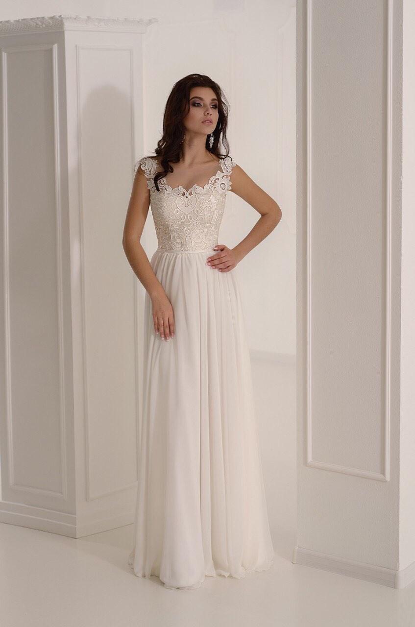 Легкое греческое свадебное платье