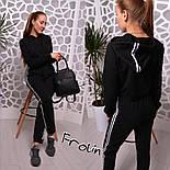 Женский модный спортивный костюм: укороченный свитшот и брюки (3 цвета), фото 2