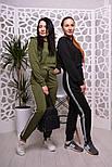 Женский модный спортивный костюм: укороченный свитшот и брюки (3 цвета), фото 4